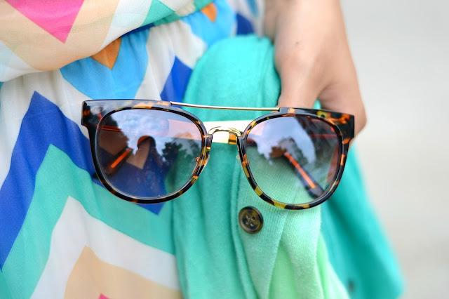 tortise-shell sunglasses