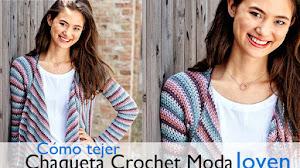 Chaqueta Juvenil a Crochet / Paso a paso