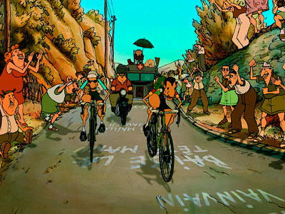 bicycle race The Triplets of Belleville 2003 animatedfilmreviews.filminspector.com