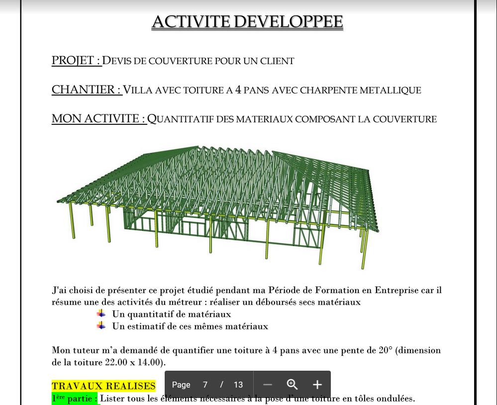 exemples de rapport de stage  bet  cabinet d u0026 39 architecture