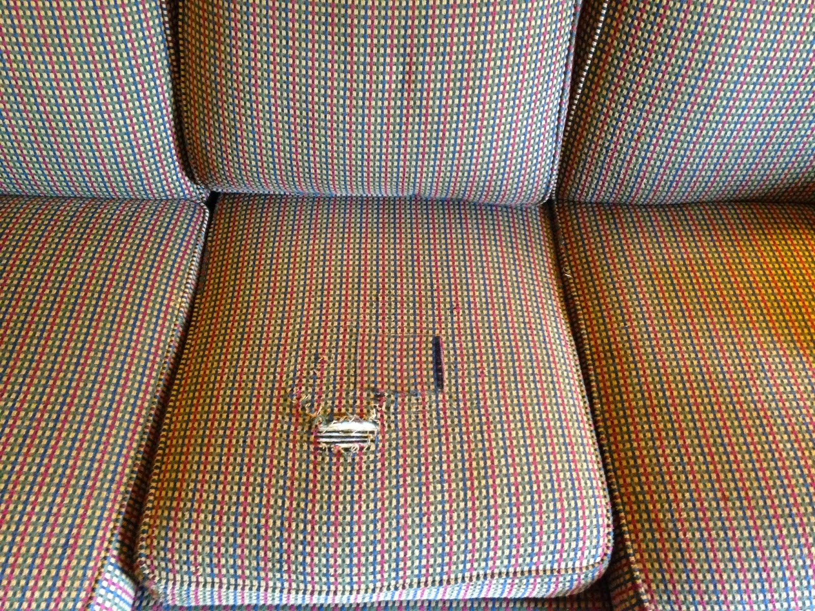 How To Fix Sofa Back Cushions Simmons Leather Big Lots Babyfingers Quick And Easy 15 Minute For Damaged