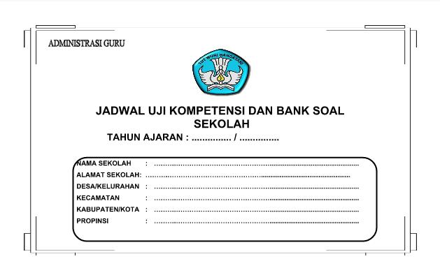 Cover Contoh Format Jadwal Uji Kompetensi dan Bank Soal