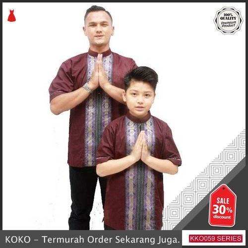 KKO59 XKL660 Koko Ayah Dan Anak Ala Syahiid Couple Model Songket BMGShop