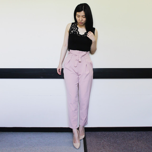 high waisted trousers pink, krisp clothing blog review, krisp clothing high waisted trousers, krisp clothing brand, krisp clothing review, krispclothing blog review, high waist tie trousers, pants high waist tie up cheap uk