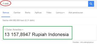 hasil mata uang asing google