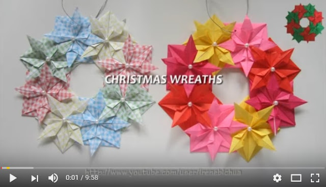 christmas paper wreathes