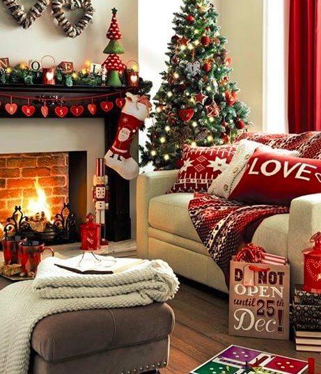 Christmas, Home Decoration, Living Room