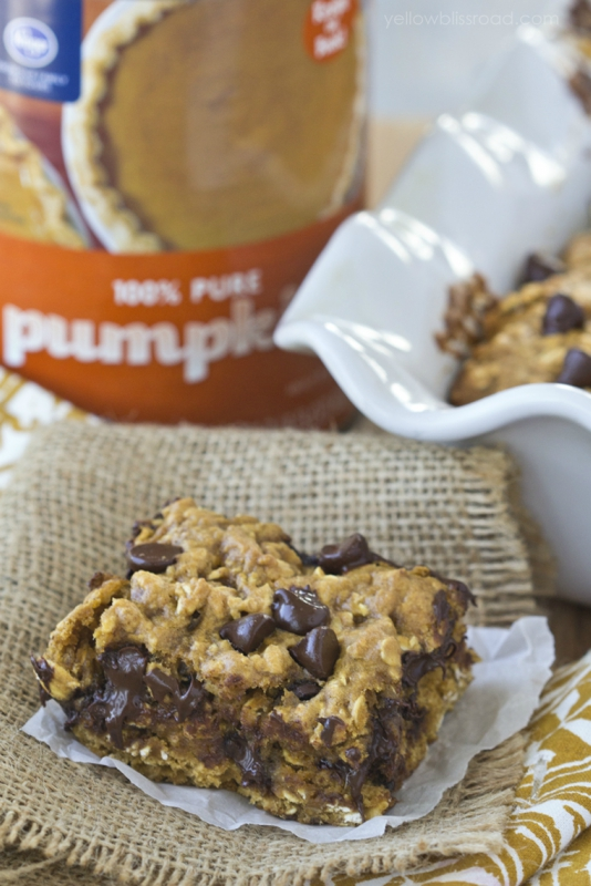 Pumpkin treats and pumpkin eats from blondies to alfredo to salads! 15 pumpkin recipes sure to satisfy.
