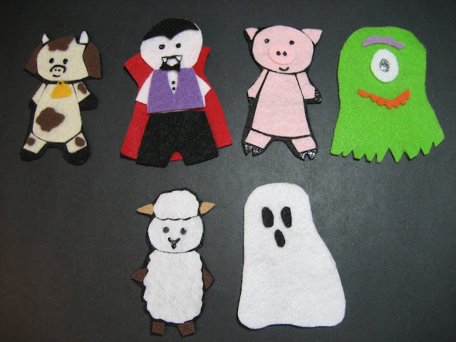 Felt Halloween Animal Costumes