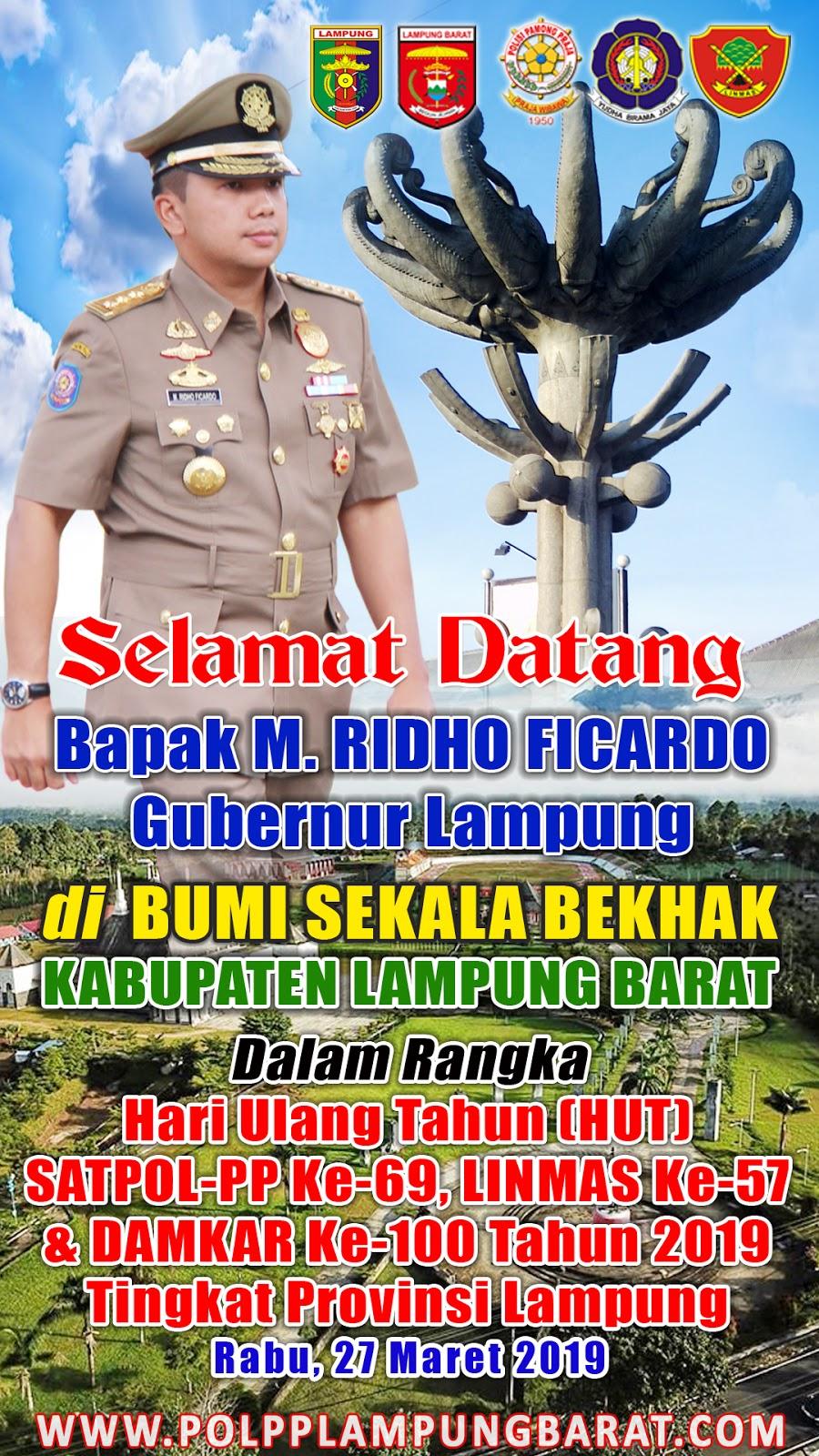 Banner, Baliho, Spanduk Peringatan HUT Satpol PP Ke-69 ...