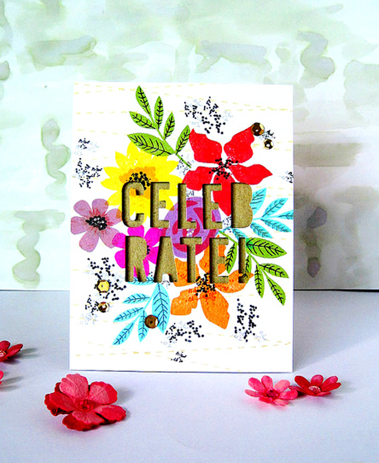 Modern Blooms stamp set - Ashwini #mftstamps