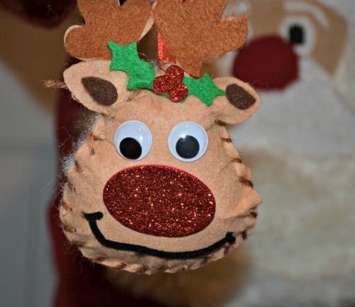 We made rudolph decorations