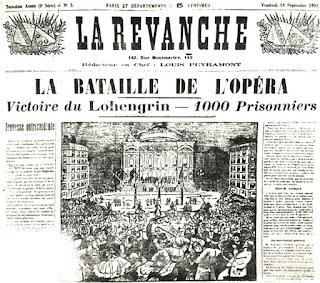 Reseña del éxito de la ópera Lohengrin en París.