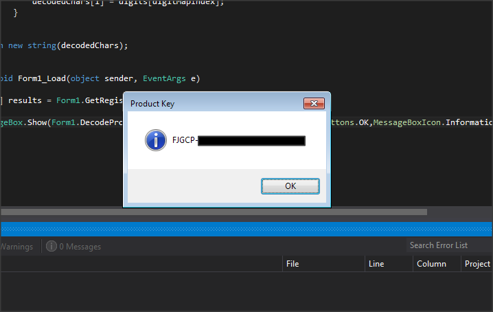 How To Get Windows Product Key In C#