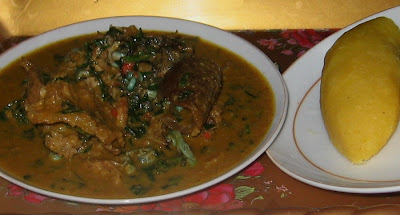 Cooking Nigerian groundnut soup step by step pics 011