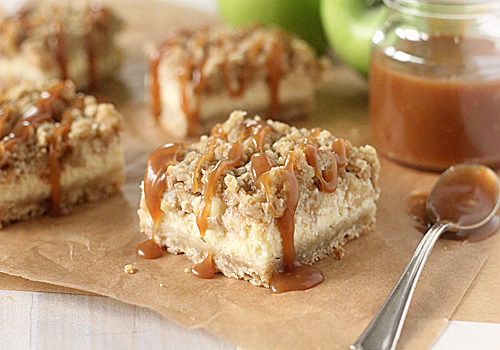 The Galley Gourmet: Caramel Apple Cheesecake Bars with ...