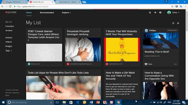 Simpan Artikel di Internet agar Dapat Dibaca Nanti secara Offline dengan Aplikasi Ini