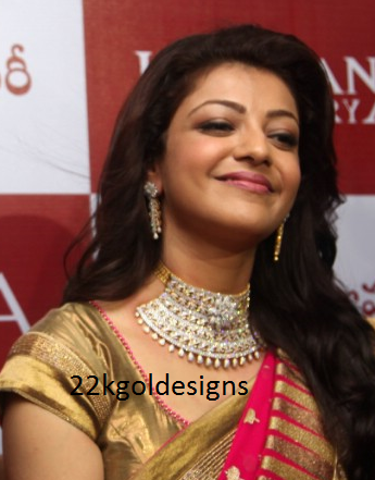 Kajal in Khazana Diamond Necklace