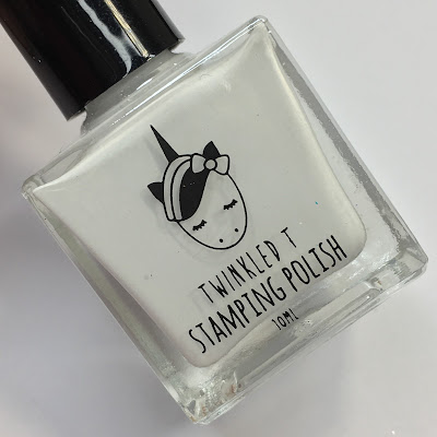 twinkled t glow up white stamping polish review