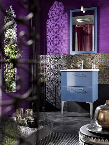 Purple Bathroom Decorating Ideas Pictures: Beauty Houses: Purple Exotic Interior Designs Bathroom