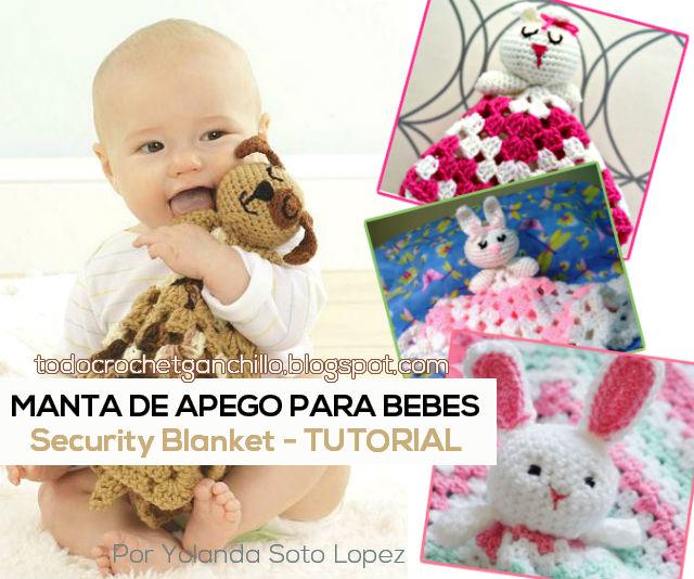tutorial de manta de apego para bebes tejida con ganchillo