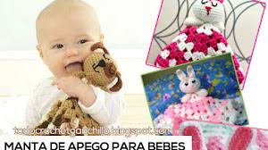 Mantita de apego para bebés / bunny blankie lovie ~ Tutorial