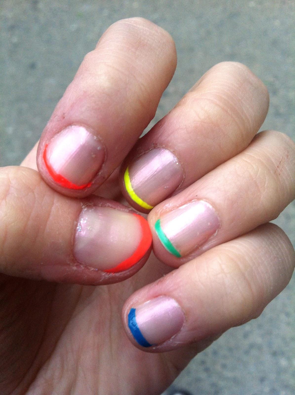 Hey! Look what I Made!: Beauty DIY: Neon Rainbow French ...