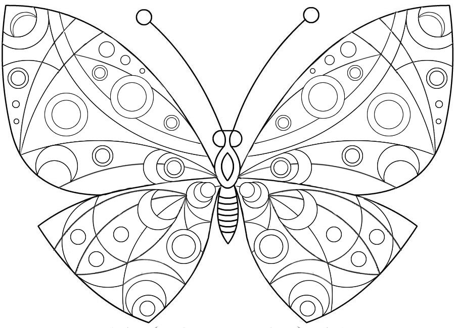Раскраски картинки для девочек бабочки
