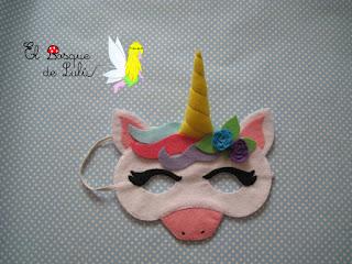 máscara-unicornio-fieltro-elbosquedelulu-hechoamanoparati-felt-feltro-carnaval-antifaz-disfraz