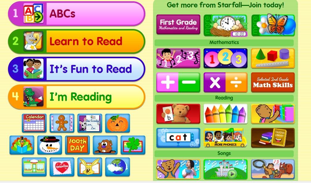 10 website giúp trẻ luện kỹ năng đọc siêu đẳng bạn biết chưa