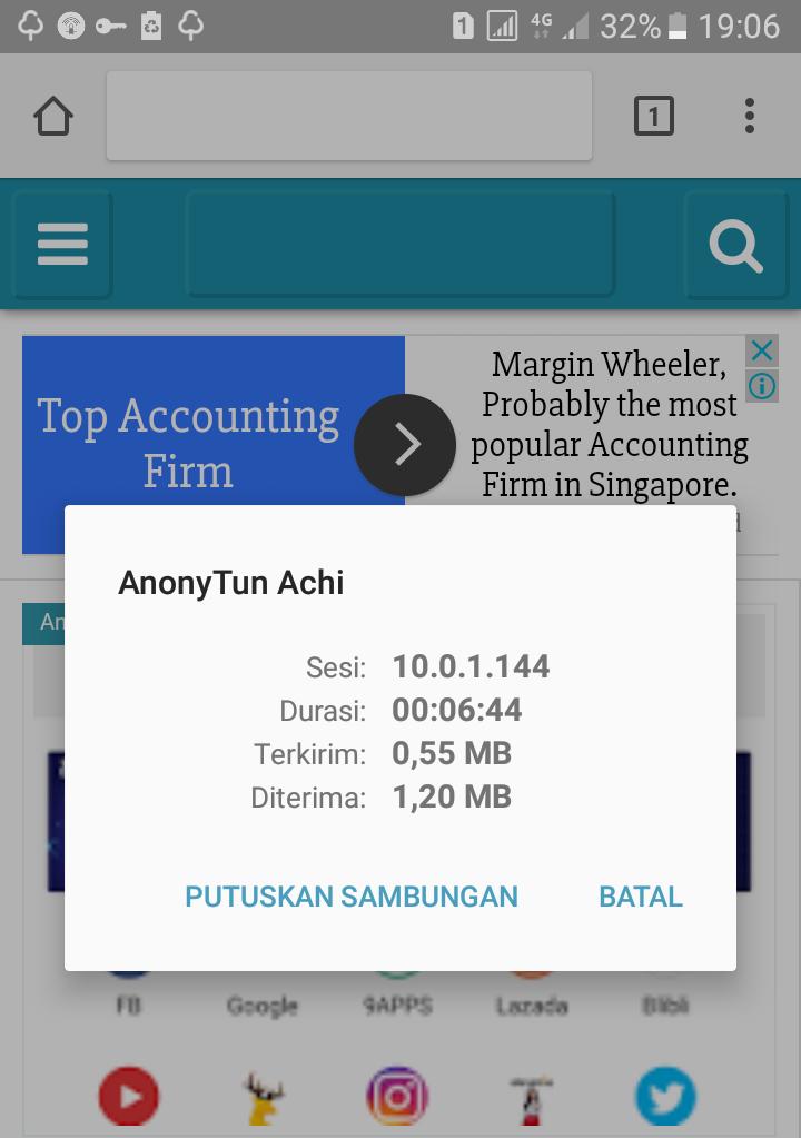 Cara Menggunakan Aplikasi AnonyTun Internet Gratis Tanpa SSH Android Terbaru