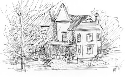 art sketch pen ink house wheeler farm
