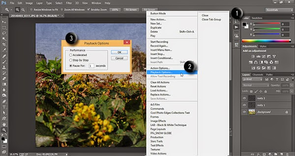 Actions Playback Options in Photoshop