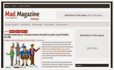Latest Mad Magazine Blogger Template Free Download - SEO And Ads Ready