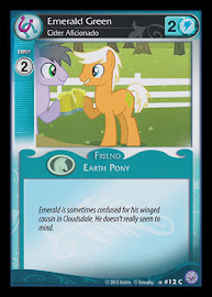 My Little Pony Emerald Green, Cider Aficionado Premiere CCG Card