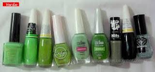 Meus esmaltes Cuidados e Vaidades Verde