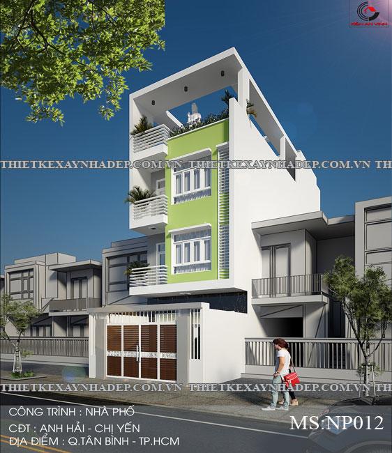 Mẫu thiết kế nhà ống 2 tầng diện tích 4x14 ở quê gia đình chị Lan Thiet-ke-nha-pho-ong-2-tang