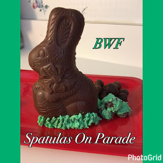 Blog With Friends, a monthly group blogging collaboration based on a theme. March's theme is Green   Green Bunny Poop by Dawn of Spatulas on Parade   Featured on www.BakingInATornado.com