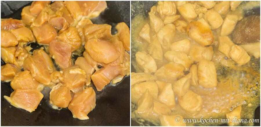 Hühnerfleisch mit Orangensauce – Fleisch braten
