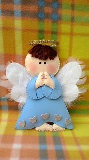 angelo di natale di gomma crepla