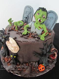 Happy Halloween bolo bragança