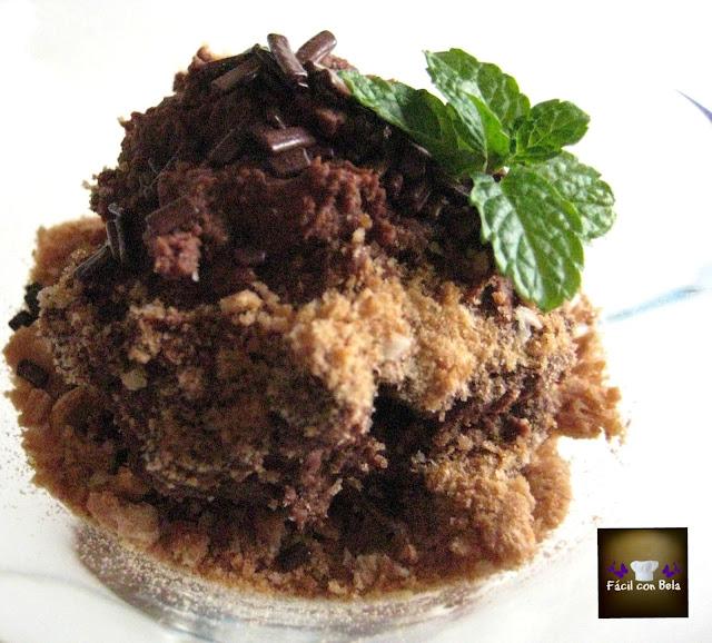 Mousse de chocolate rápido con waffer y fideos de chocolate de Paco Torreblanca - Fácil con Bela
