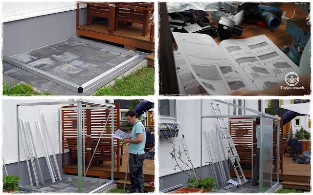 Gartenblog Topfgartenwelt Loungemöbel für den Garten - der Aufbau des Gewächshauses ist gar nicht so einfach