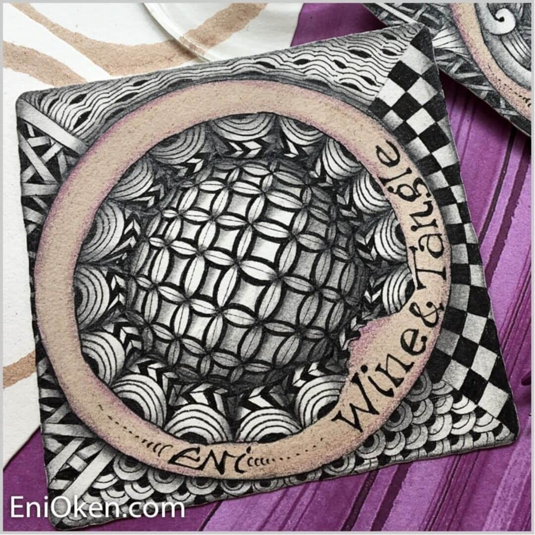 03-Wine-Circle-Eni-Oken-Ink-and-Pencil-Fantasy-and-Zentangle-Drawings-www-designstack-co