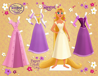 free tangled paper dolls