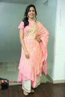 Actress Ritu Varma Pos in Beautiful Pink Anarkali Dress at at Keshava Movie Interview .COM 0187.JPG