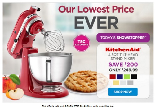 The Shopping Channel KitchenAid Stand Mixer $200 Off