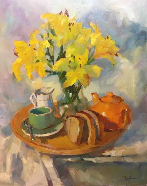 Yellow Lilies and Bread