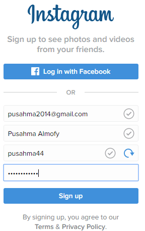 daftar instagram di pc tanpa bluestack