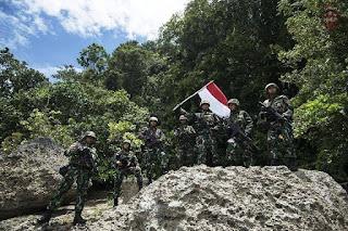 TNI Jaga Perbatasan RI-Malaysia